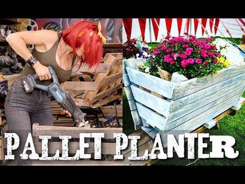 How to build a pallet trough garden planter - Super Easy!