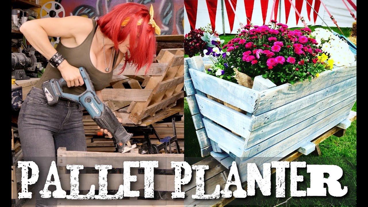 How To Build A Pallet Trough Garden Planter   Super Easy!