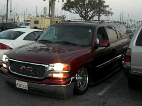 my yukon xl air bagged custom paint so kool - YouTube
