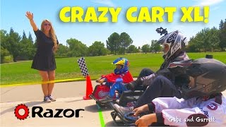 Razor Crazy Cart XL vs Crazy Carts - Racing and Spinning!