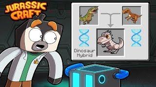 Jurassic Craft - CRAFTING HYBRID DINOSAUR! (Minecraft Dinosaurs)
