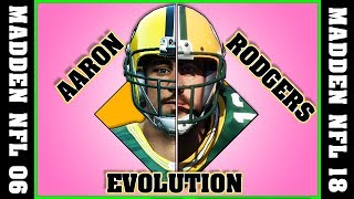 AARON RODGERS evolution [MADDEN NFL 06 - MADDEN NFL 18] 🏈