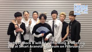 MBC Dream Kpop Fantasy Concert 2 Block B Video Message