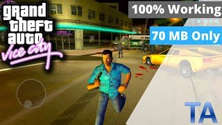 How To Download GTA Vice City In 70MB Only||For Android