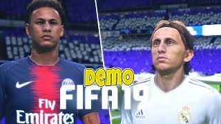 PROBANDO LA DEMO DE FIFA 19 - Real Madrid vs PSG Champions