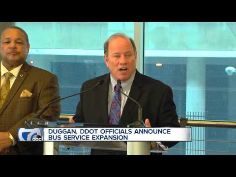 Mayor Mike Duggan, DDOT announce second phase of major bus expansion