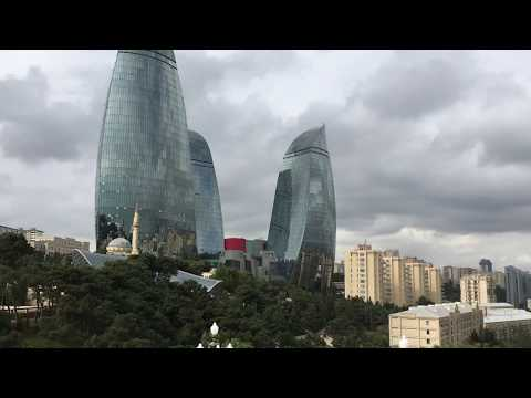 Baku Panorama @ Waterfront, Shahidlar Monument and TV Tower