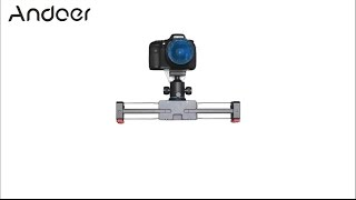 Andoer V2-500 Track Dolly Slider 50cm Rail Shooting Video Stabilizer 86cm Actual Sliding Distance