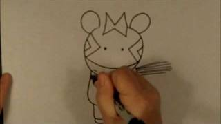 How To Draw A Cartoon Zebra Easy Beginner Drawing Lesson