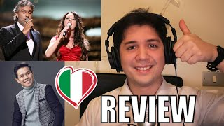 TIME TO SAY GOODBYE - ITALIAN REACTION AND LANGUAGE REVIEW  (Marcelito Pomoy)