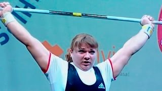 2009 European Weightlifting Championships, Women +75 kg \ Тяжелая Атлетика. Чемпионат Европы
