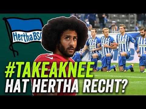 #takeaknee: Herthas Zeichen gegen Rassismus - PR-Stunt oder große Geste?