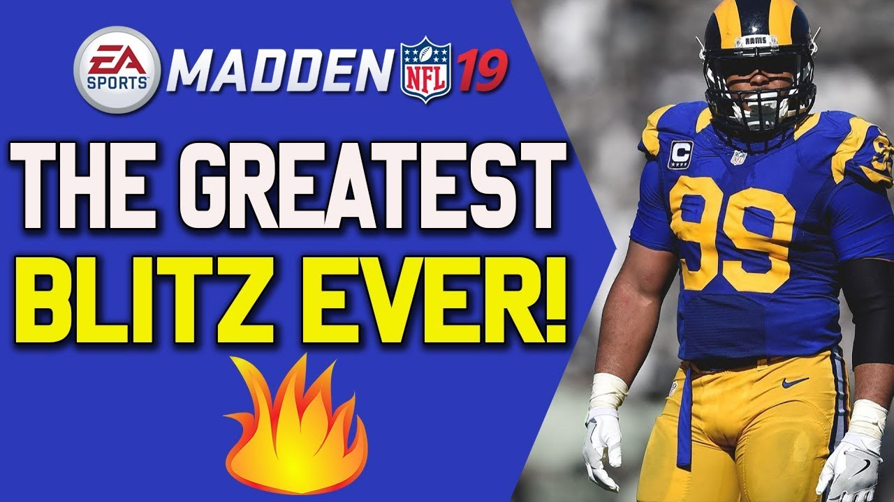 The Best Blitz In Madden 19!! Tips To Unstoppable Defense!!