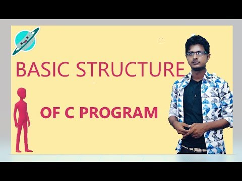Basic Structure of C Program Explanation in Hindi | c programming tutorial thumbnail