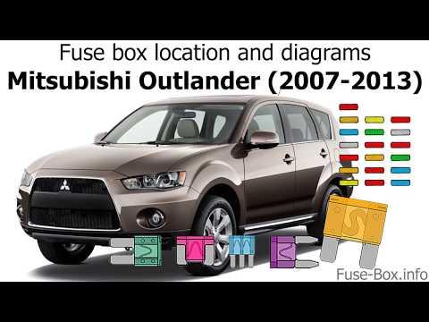 fuse box location and diagrams: mitsubishi outlander (2007-2013 ...  youtube