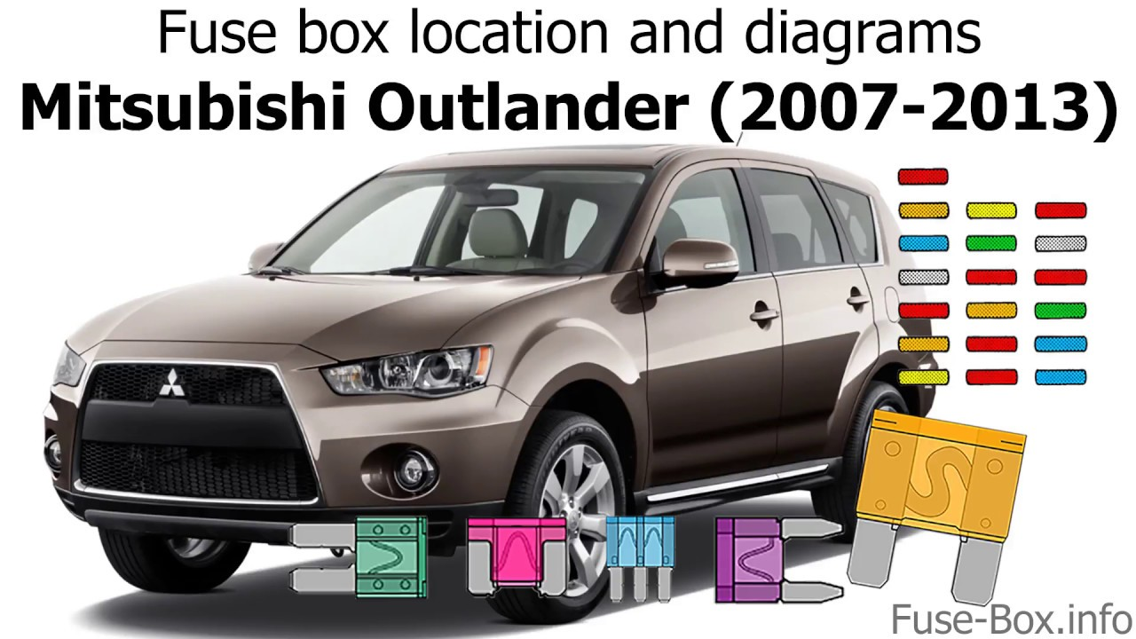 fuse box location and diagrams: mitsubishi outlander (2007-2013)