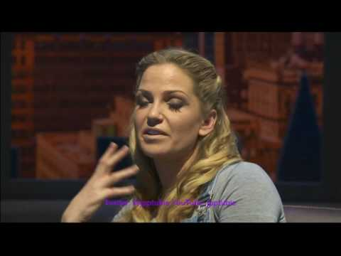 Sarah Harding - ITV News Ghost Musical and Pottery
