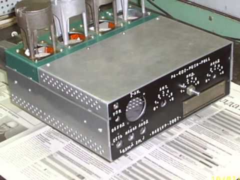 видео: pa 400-pucsh-pull - усилитель КВ своими руками.
