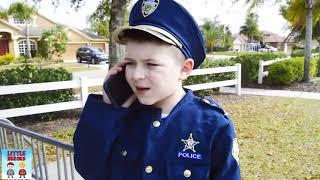The Playground Showdown   Sketchy vs Super Cops pretend play fun