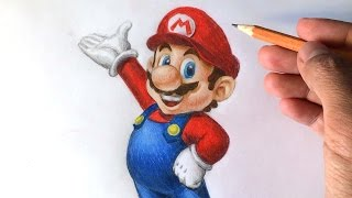 How to draw Super Mario 3D [Nintendo] Drawing Tutorial