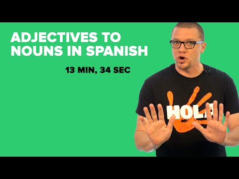 Turn Adjectives into Nouns in Spanish (S03E04)