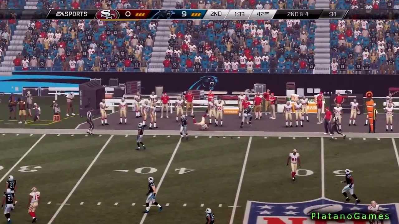 NFL Playoffs 2014 - San Francisco 49ers vs Carolina Panthers - 1st Half -  Madden 25 PS4 - HD 5330ff6b3