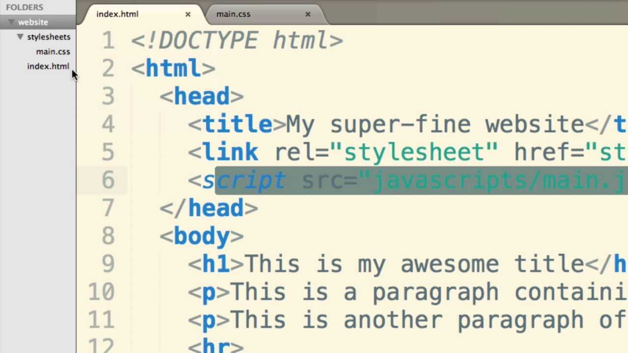 The absolute basics of HTML, CSS and JavaScript - YouTube