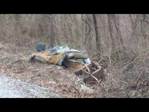 How people trash Greene County Pa back roads.