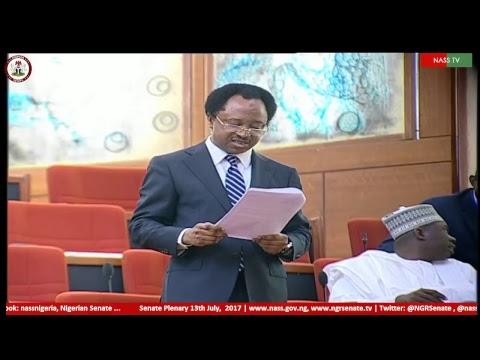 Nigerian Senate Plenary, 13th  July, 2017