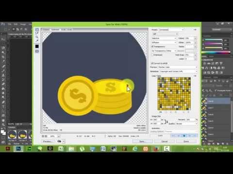 How to Create GIF file with Photoshop CC วิธีสร้างภาพเคลื่อนไหวด้วยโฟโต้ชอป