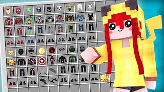 COLEÇÃO COMPLETA DE ARMADURAS DE SUPER-HERÓIS \o/ | Minecraft LENDÁRIO #56