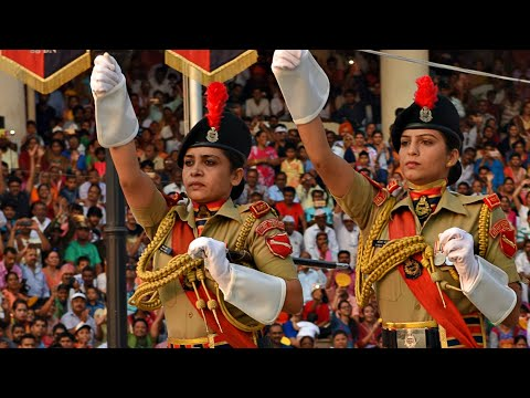 WAGAH-ATTARI BORDER PARADE : BEST COVERAGE OF RETREAT CEREMONY IN FULL HD..!!