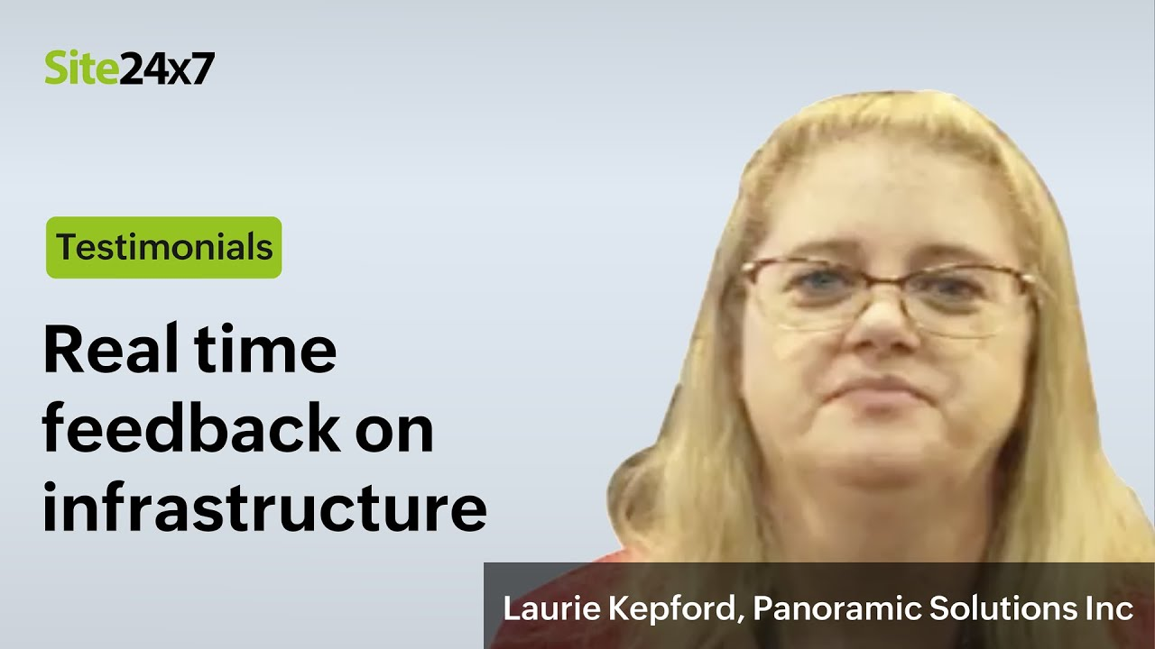 Laurie Kepford explains why Panoramic Solutions Inc. is happy with everything Site24x7