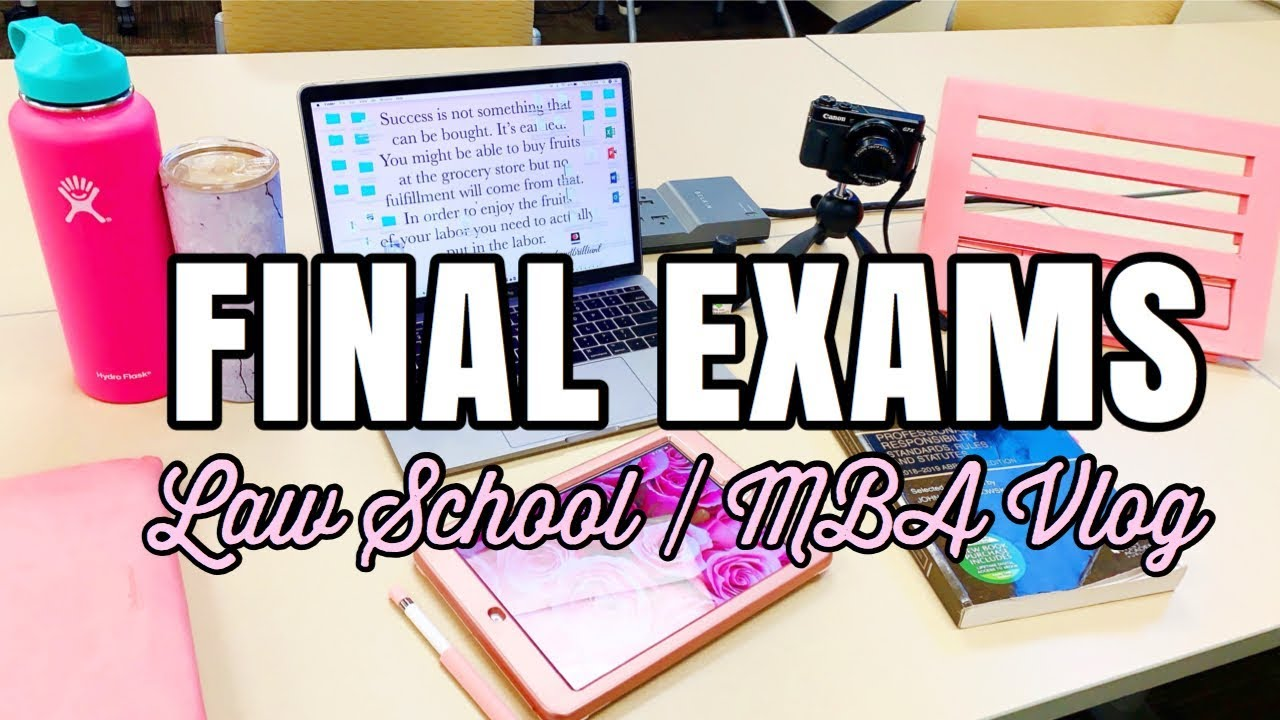 Final Exam Week Study Vlog | Exams for Law School AND Business  School   STRESSED?