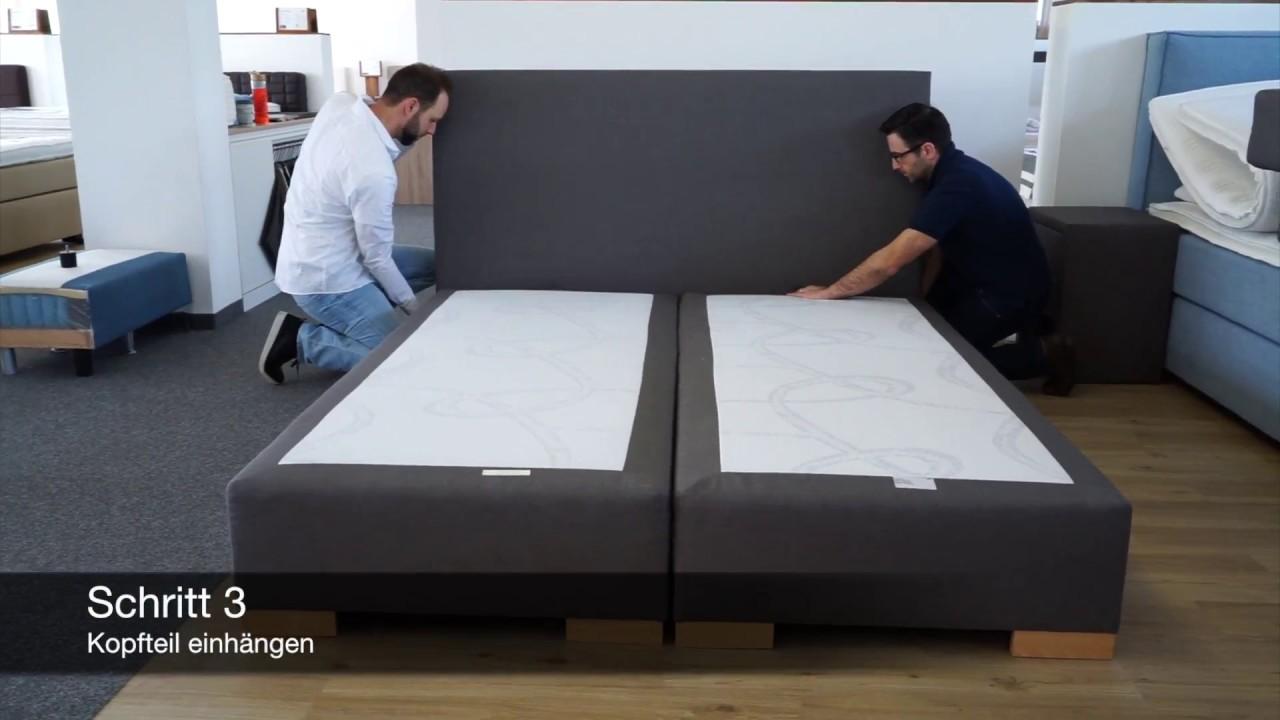 Boxspringbett Aufbau Montageanleitung Fur Boxspring Welt Betten Youtube