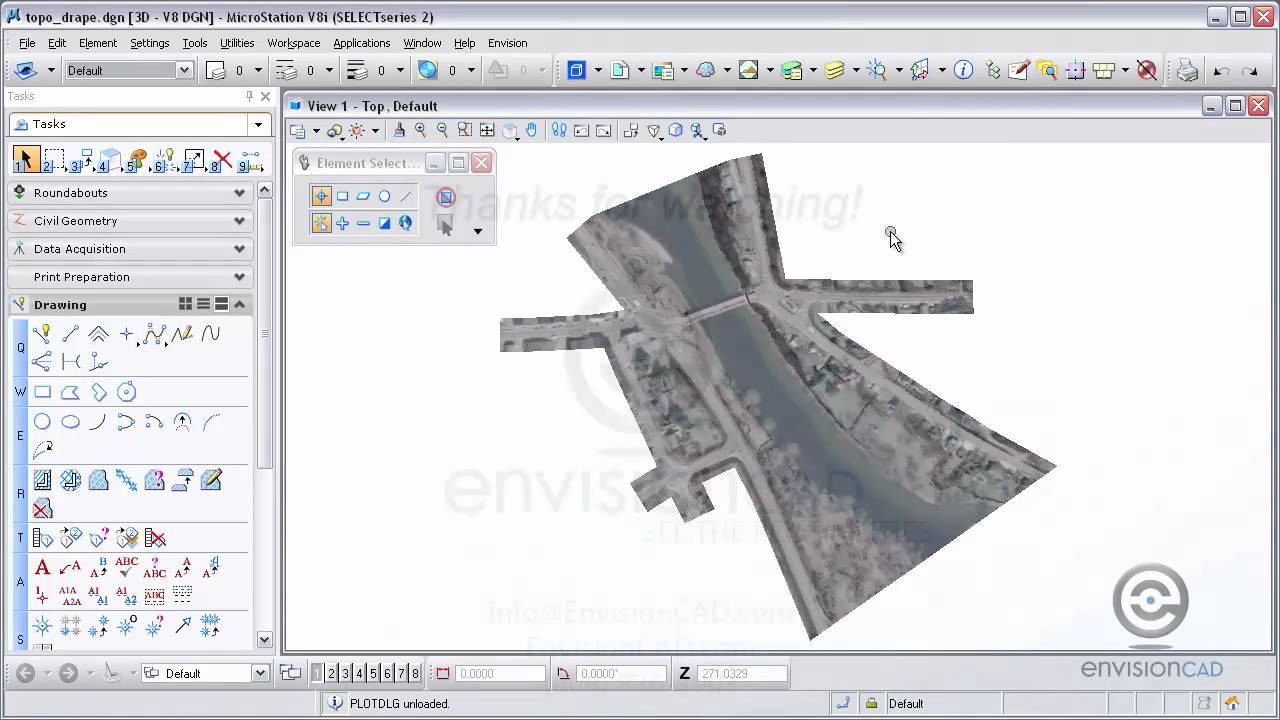 drape image on surface and create 3d pdf microstation v8i selectseries youtube. Black Bedroom Furniture Sets. Home Design Ideas
