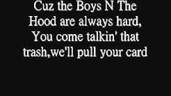 Boyz N The Hood - Eazy E - Lyrics