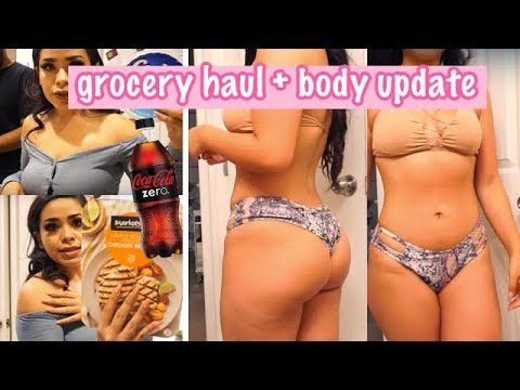 WHAT I EAT IN A DAY | BODY UPDATE & GROCERY HAUL