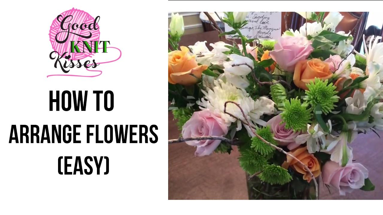 How to Arrange Flowers  easy  YouTube