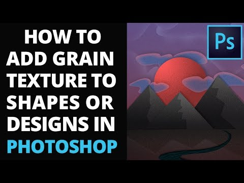 How To Add A Gradient Grain Texture To Shapes Or Designs In Photoshop