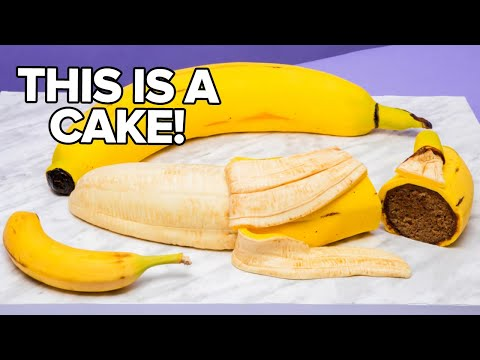 GIANT Banana... Made Of CAKE! | How To Cake It With Yolanda Gampp