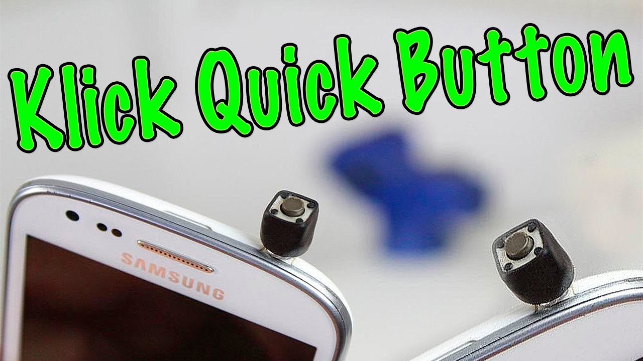 how to make a klick quick button youtube
