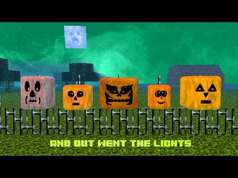 Minecraft Halloween Five Little Pumpkins