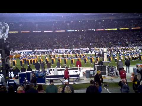 "UCLA Band performing - ""Sons of Westwood"" and ""Mighty Bruins"""
