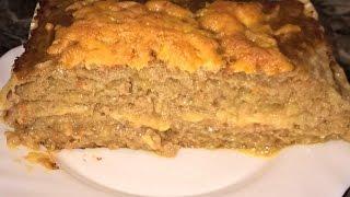 """Мясной торт. Мясной торт из вафельных коржей. """"Ленивая""""лазанья с фаршем простой рецепт."""