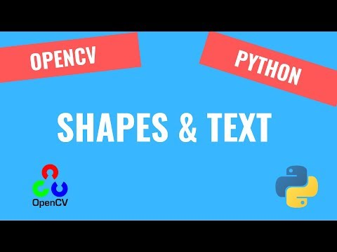 How to draw Shapes and Text | OpenCV Python Tutorials for Beginners 2019 thumbnail