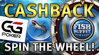 SPIN THE WHEEL! GGPoker's Fish Buffet Wheel keeps handing out REAL CASH RAKEBACK