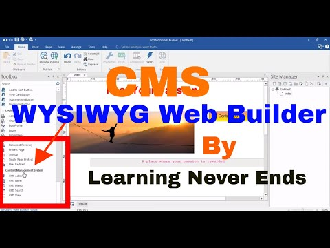 CMS Tools In WYSIWYG Web Builder Complete Tutorial CMS View CMS Menu CMS Search CMS Label