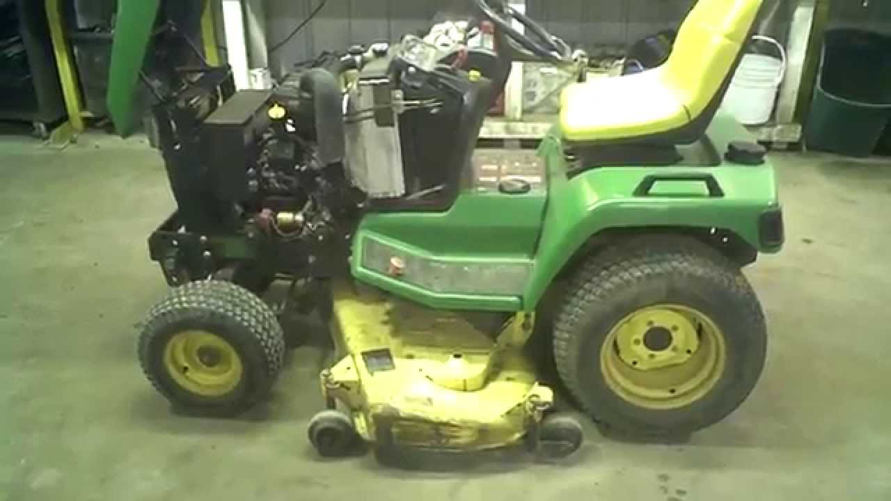 how to take deck off of john deere