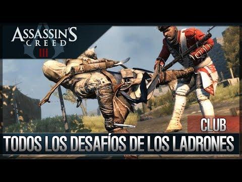 Assassin's Creed 3 - Walkthrough Español - Club -Todos Desafíos de los Ladrones Completados [100%]